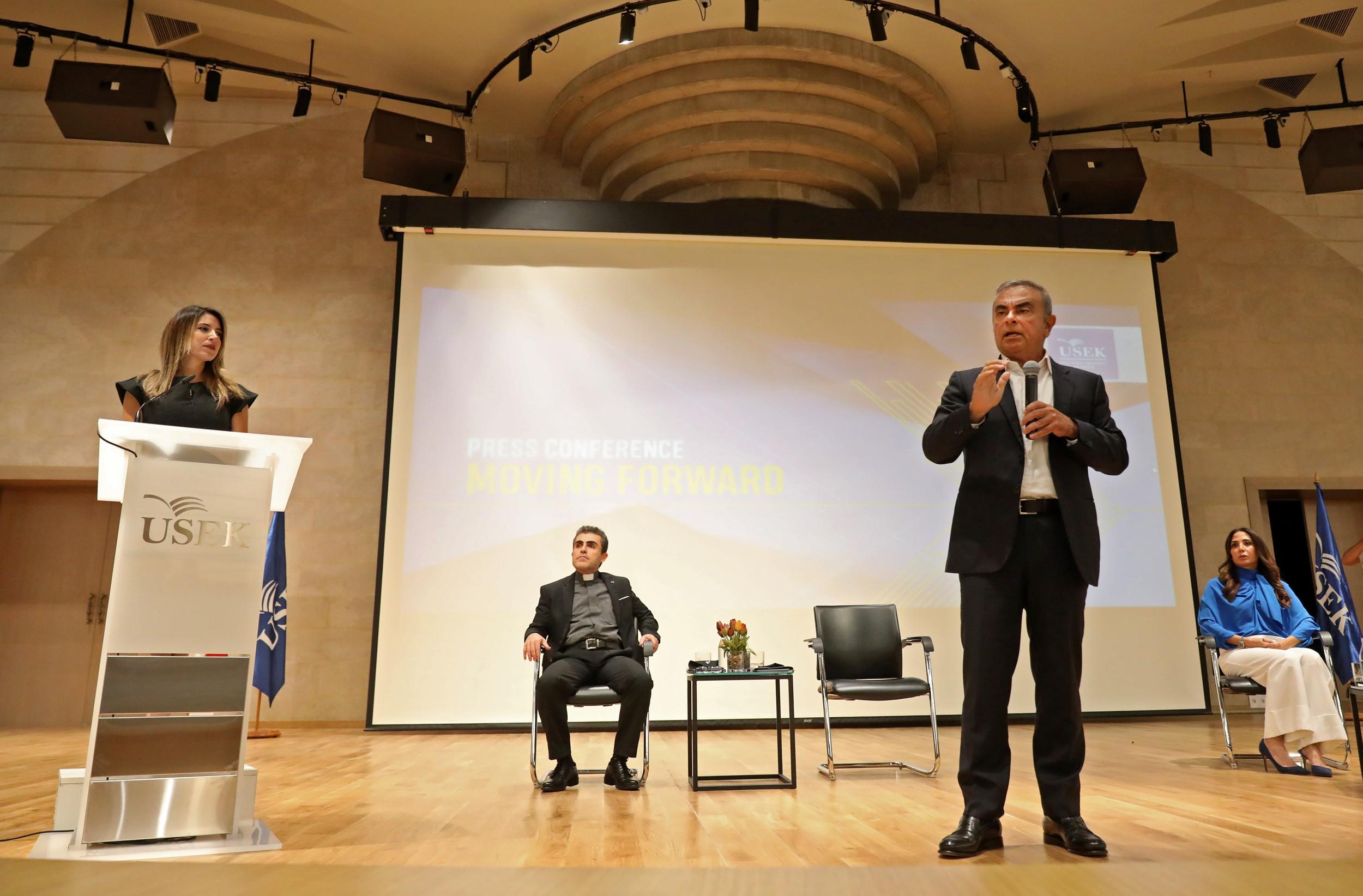 Carlos Ghosn faz primeira aparição pública no Líbano e diz que será consultor em projetos universitários