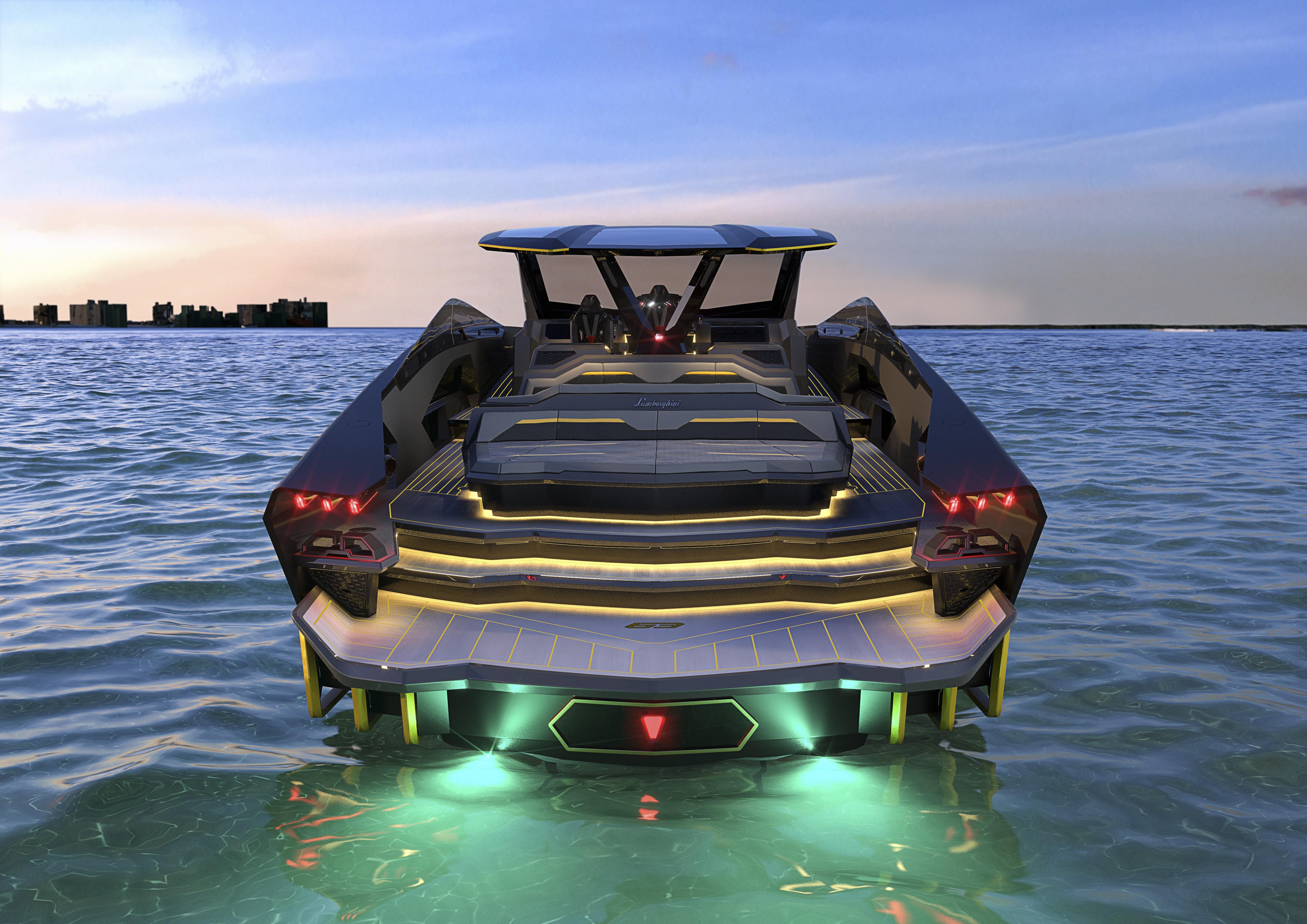 Iate Lamborghini terá 4 mil cavalos de potência e será lançado em 2021